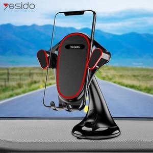 Image 1 - Yesido C53 Windshield Gravity Sucker Car Phone Holder For iPhone X XS Max Samsung Huawei Luxury GPS Mobile phone Stand Holder
