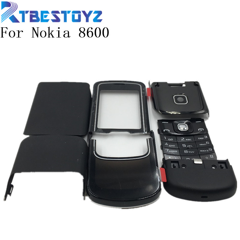 RTBESTOYZ Original Good quality For Nokia 8600 New Full Housing Cover Case With English Keypad +Logo
