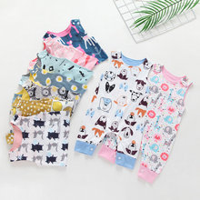 2019 New Born Baby Clothes Boy Romper Toddler Girls Clothes Floral Elephant Jumpsuit Playsuit Sunsuit Baby Winter Clothing(China)