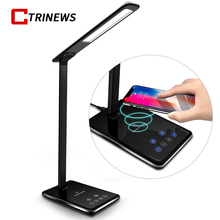 CTRINEWS QI Wireless Charger For iPhone X  8 8 Plus Smart LED Table Lamp USB Charging Adapter For Samsung S9 Note 8 S8 S7 Edge