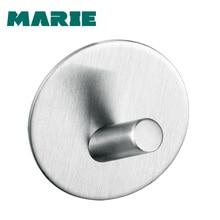 лучшая цена 2019 Durable 304 Stainless Steel Bathroom Single Robe Hook Solid Toilet Hat Clothes Towel Hanger Hook