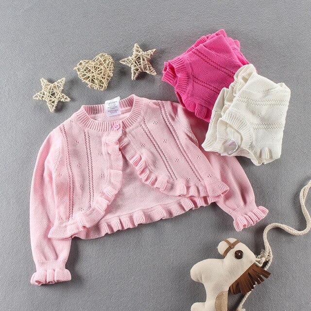 0e10d47416a7 Everweekend Girls Ruffles Knitted Sweater Cardigan Cape Jackets ...