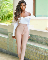 High Quality Women Pants With Sashes Solid Rayon Bandage Pants Hot Sale