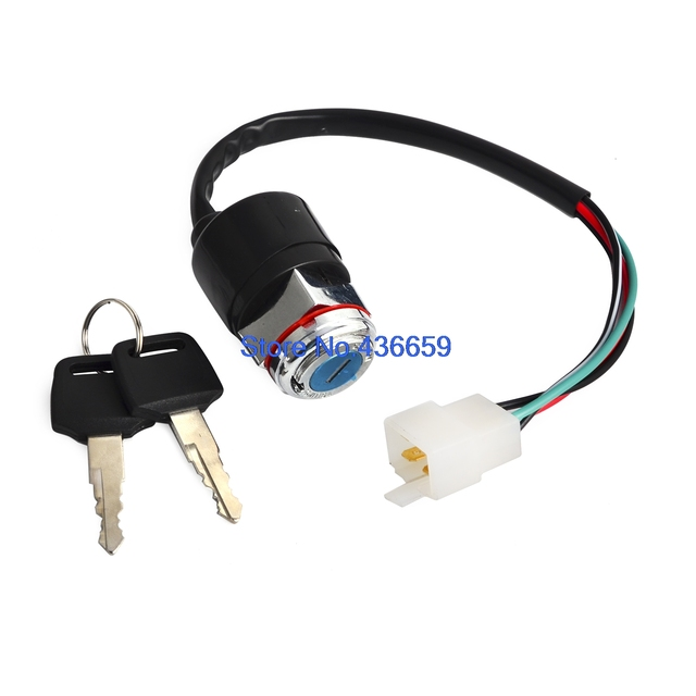 Ignition Switch with 2 keys 4 Wires For Honda CB200 CB360 CL200 CB ...