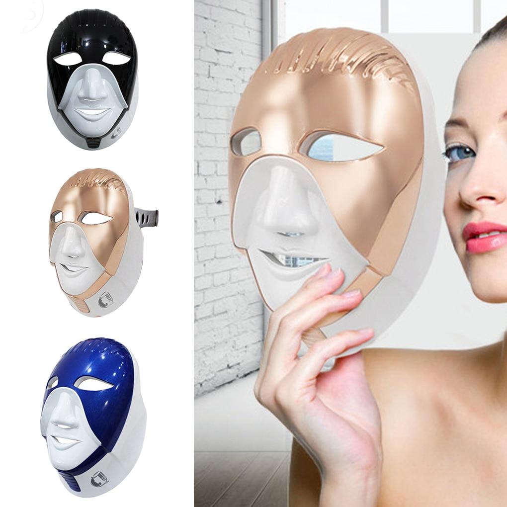 SemimeseiHOT 8 couleurs lumière LED Photon Anti-rides visage cou masque rides acné enlèvement peau rajeunissement LED masque