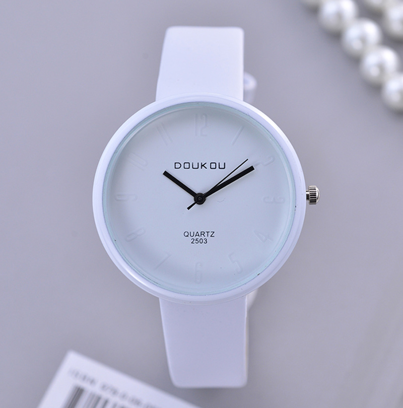 Fashion Simple White Women Watches Luxury Brand Ladies Quartz Wrist Watch Women's Watch Relogio Feminino Reloj Mujer Hodinky New 2017 sanwood brand ladies watches fashion white leather band analog quartz rhombic case wrist watch for women gift reloj mujer