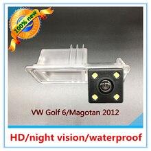 Preço de fábrica Boa qualidade CCD Car backup de Câmera de visão noturna reversa Vista Traseira câmera de estacionamento Para VW Golf 6 Magotan 2012