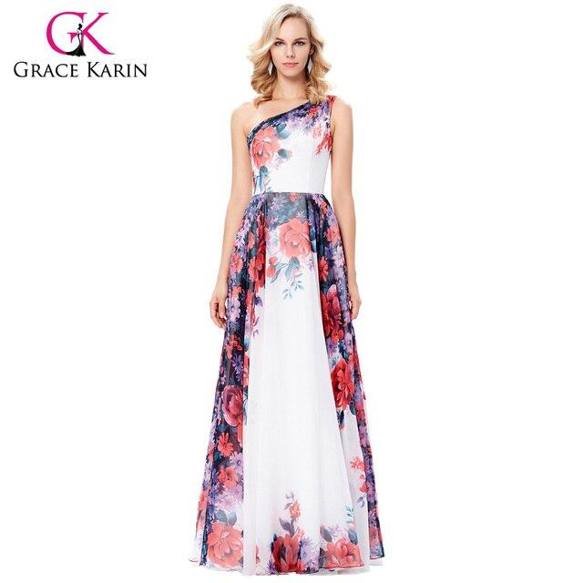 Gnade Karin Schulter Blumendruck Abendkleider Abendkleider 2018 ...
