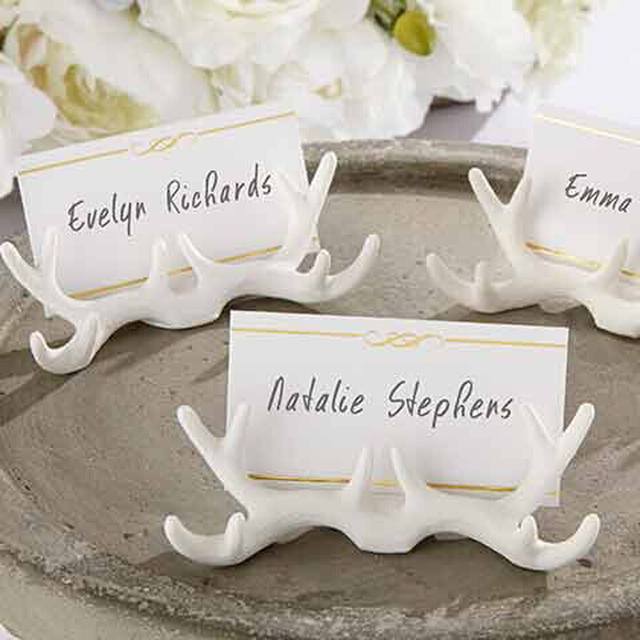 new arrival wedding decoration resin antler place card holder table place cards seat card 80pcs - Table Place Cards