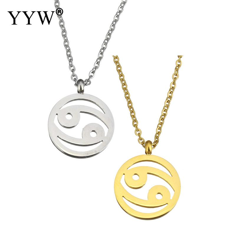 Yyw Constellation Signs European Women Men Punk Gold Color Stainless