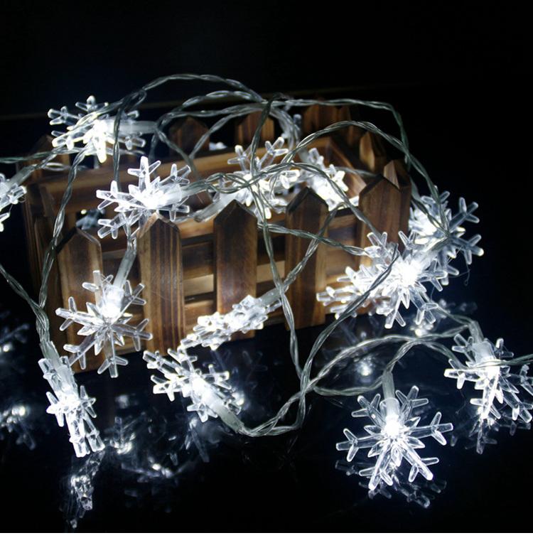 snowflake string lights W1420-00-02