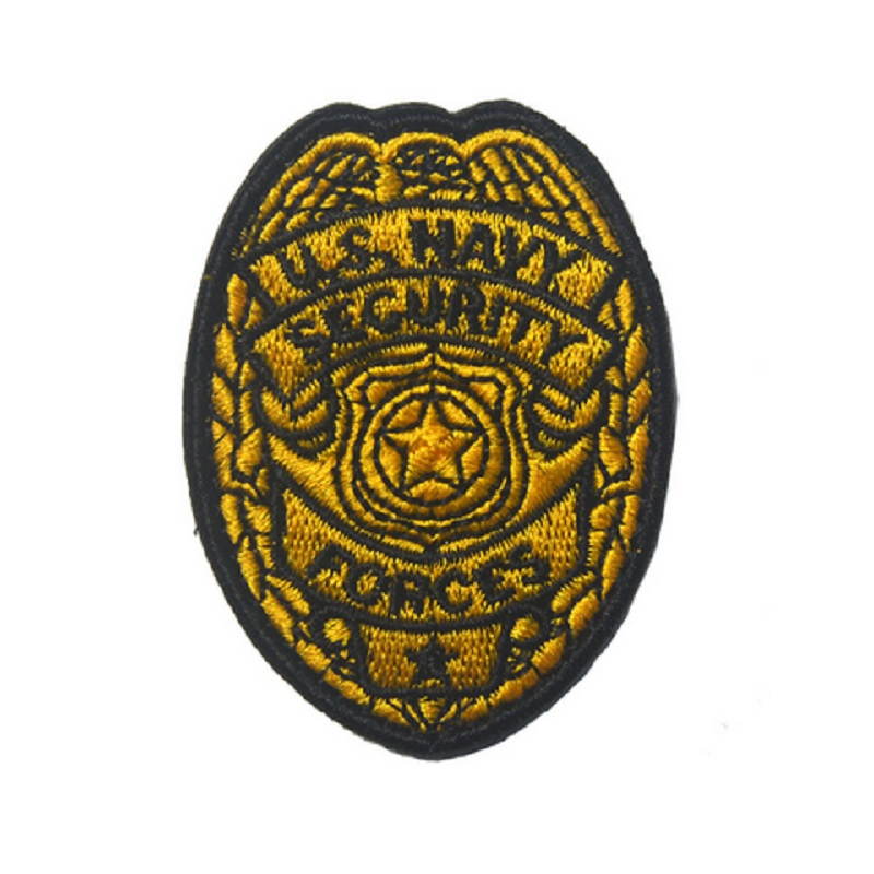 3D Embroidery armband Loop And Hook US NAVY SECURITY FORCES patch Badge Embroidery armband
