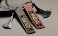 TOP Quality Marcador Rosewood Chinese Bookmark Bookmarks Vintage Design Flower Shadow Set Segnalibro Book Markers