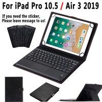 Touchpad Toetsenbord Case Voor Ipad Pro 10.5 A1701 A1709 Air 3 2019 3rd Generatie Smart Leather Cover Detach Toetsenbord + stylus Pen