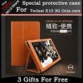 Ultra Slim 3-Fold Mangetic Закрытие Шелковый Флип Стенд PU Кожаный Чехол для Teclast X10 3 Г octa ядро 10.1 inch tablet pc