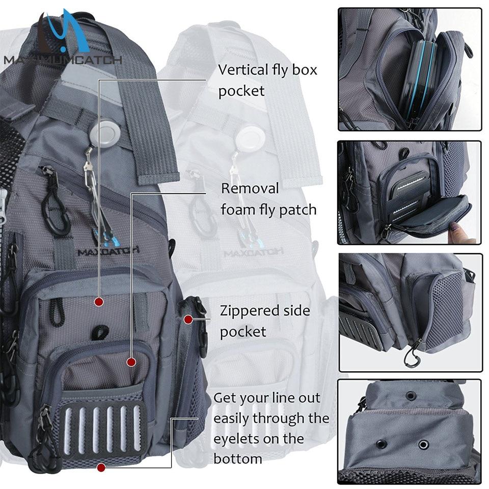 Maximumcatch Fly Balıqçılıq Vest Tənzimlənən Mutil Cib - Balıqçılıq - Fotoqrafiya 2