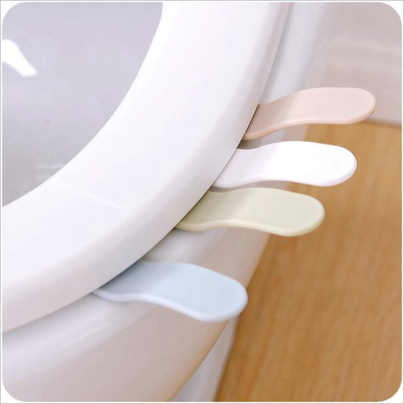 Creative Portable Toilets Lid Handle Uncovery Flip Lid Toilet Cover Home Toilet Accessory  Not Dirty Hands