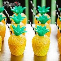 12pcs Flamingo Theme Birthday Party Pineapple Coconut Plastic Drink Cups Hawaiian Summer Wedding Beach Party Decoration Adult