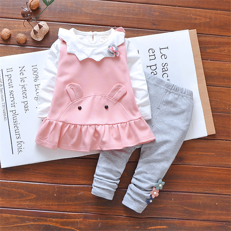 Clearance Sale Baby Clothing Sets girls 3 pieces outfit For Girl Children Spring Autumn Child Cotton Clothes Suit Kids Tracksuit
