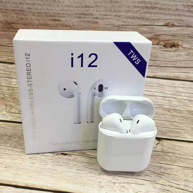 i12 Sugar Color Touch Control Bluetooth Earphones For iPhone And Android 5