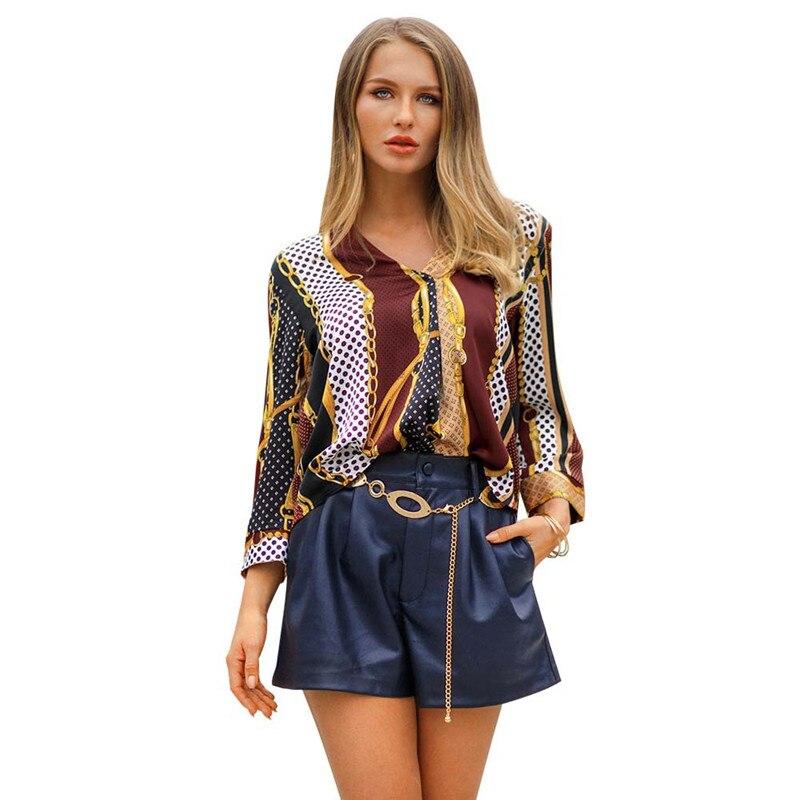 Hot selling fashion women s irregular patchwork blouse
