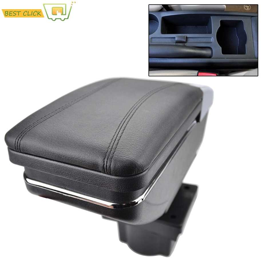 Car Arm Rest Rotatable For Skoda Yeti 2009-On / Octavia Mk2 2 2005-2012 A5 Centre Console Storage Box Armrest 2006 2007 2008