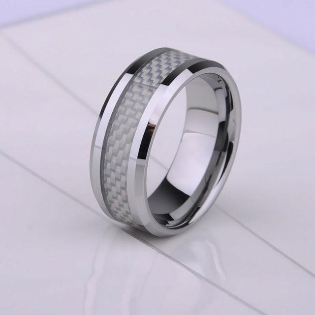 Tungsten Steel Rings Scratch Proof