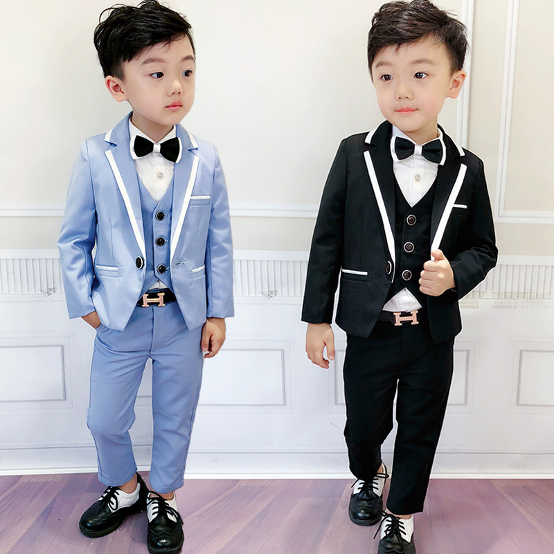 2019 boys dress suit children three piece suit a undertakes to show suit Fashion kids clothing Solid kids clothes ALI 320