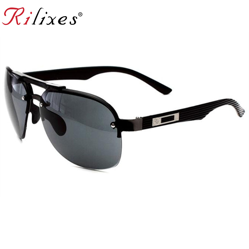 RILIXES Brand Designer Fashion Unisex Sun Glasses Coating Mirror Sunglasses Round Male Eyewear For MenWomen with bag