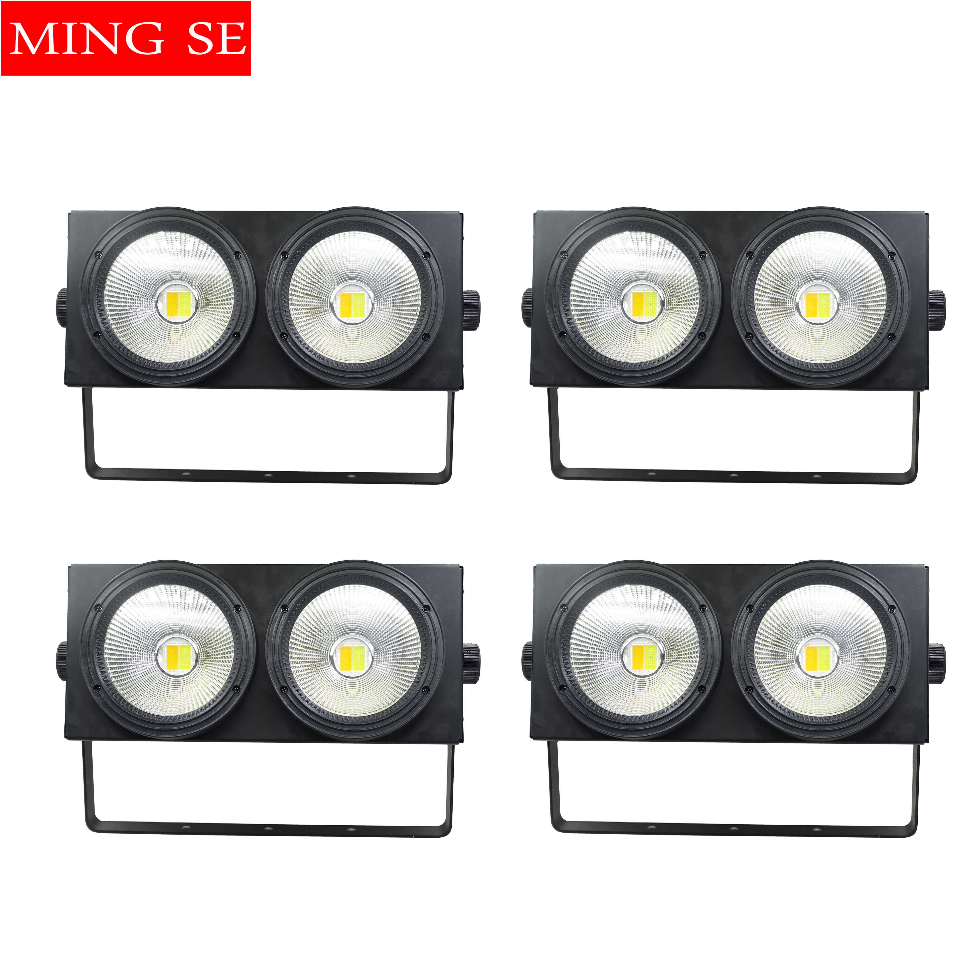 4pcs/lots 2 Eyes LED COB Blinder Light Cold White/Warm White 2in1 COB LEDs Control Optional Individually 2x100W Audience Light