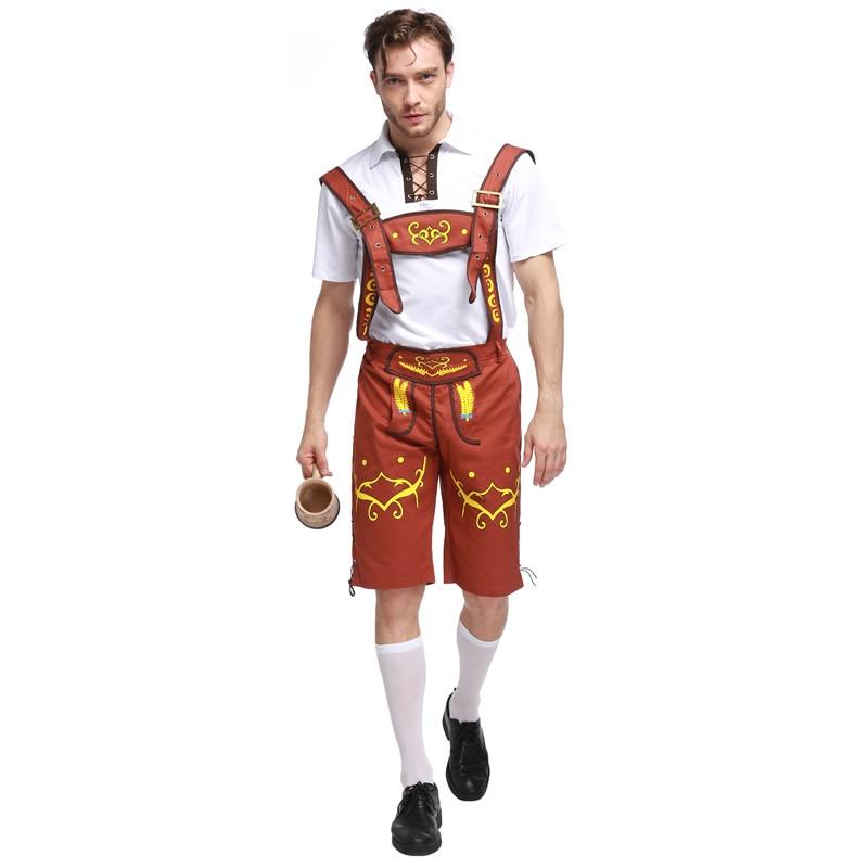 Mens German Bavarian Oktoberfest Ladies Beer Maid Fancy Dress Costume <font><b>Lederhosen</b></font>