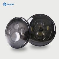 45W 7 Round LED H4 Headlight Daymaker Lamp With Angel Eye 7 Inch Headlamp For Lada