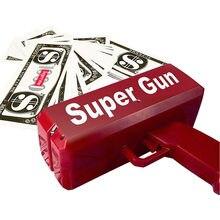 Chuva dinheiro arma de brinquedo pistola festa moda nome vermelho 1pcs canhão dinheiro engraçado torná-lo presente natal