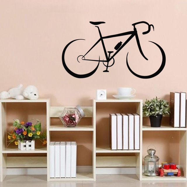Fashionable Bicycle Wall Stickers Kids Rooms Vinyl Removable DIY