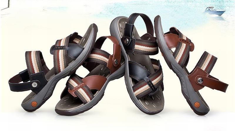 Top qualité véritable cuir de vache sandales homme mode été chaussures plage tongs homme gladiateur Sandalias pantoufles grand Size38-44 - 2