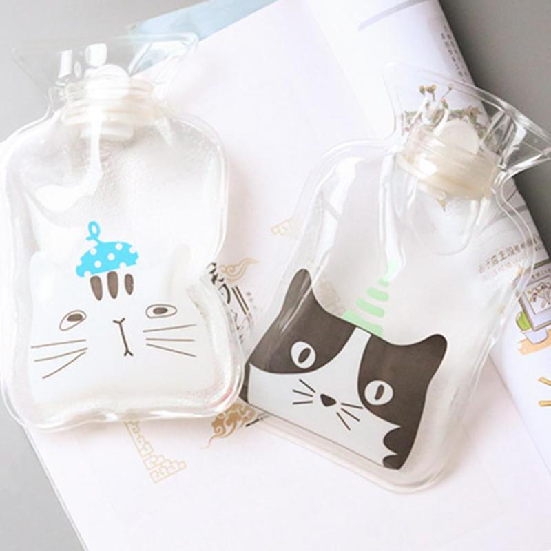 Mini Cartoon Hot Water Bottles Small Portable Hand Warmer Water Storage Bag Winter Cute Hand Po Warm Hot Water Bottle L30 spark handheld bag mini storage bag portable aircraft battery remote controller bag for spark