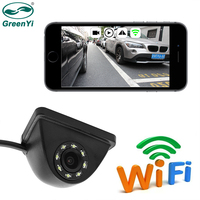 GreenYi Car Mini Wifi Weatherproof HD Night Vision Side View Camera For IOS and Android Front View Camera Cigarette lighter