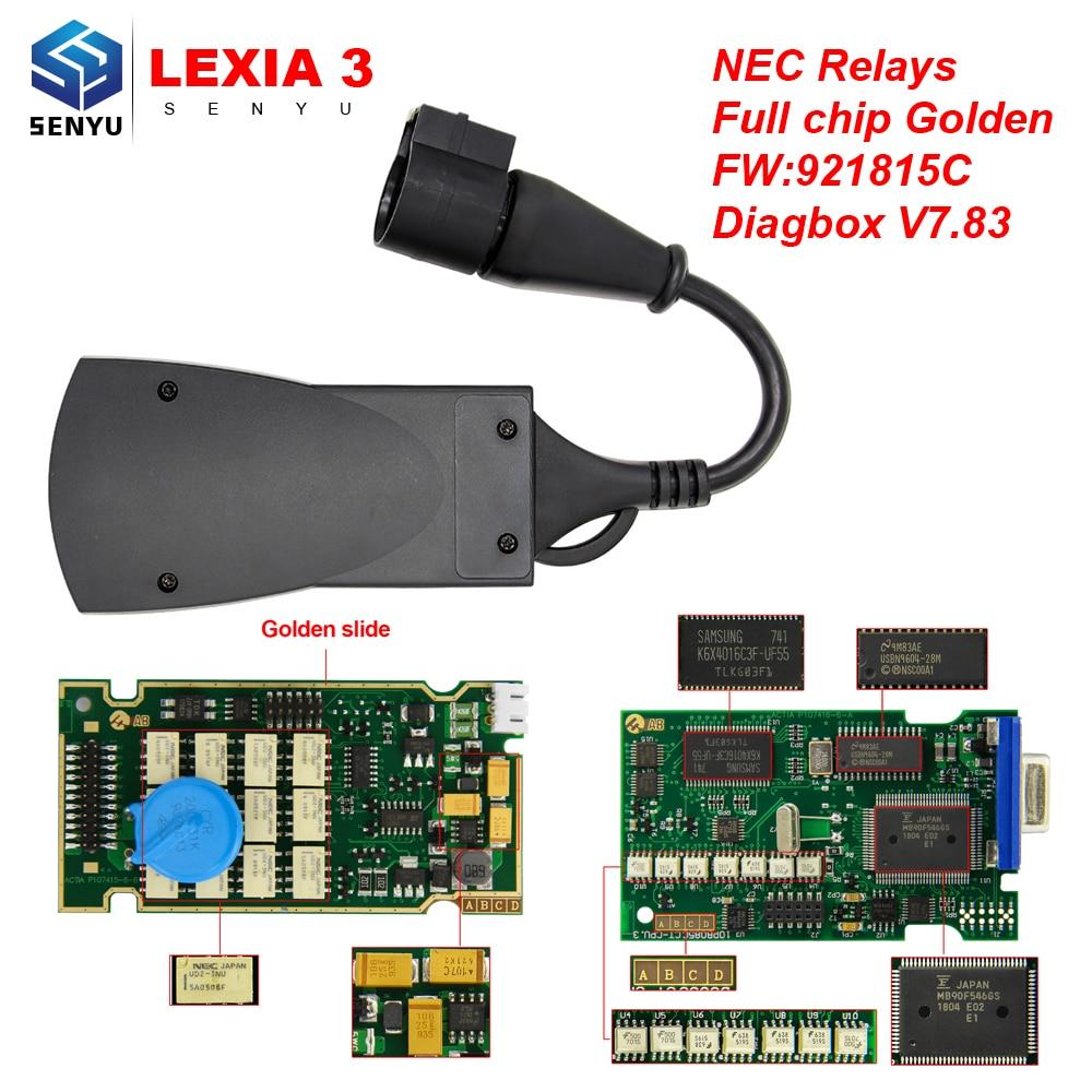 Lexia 3 PP2000 Full Chip 921815C Diagbox V7.83 LEXIA3 For Citroen/Peugeot For PSA OBD OBD2 Scanner Car Diagnostic Auto Tool