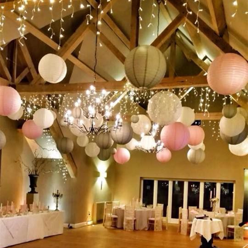 Paper Lanterns Wedding Decoration Ideas: (3pcs/Lot) 10''(25cm) Chinese Light Mint Paper Lantern