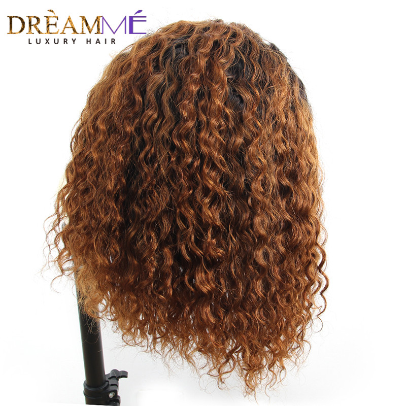 13x6 150 Curly Lace Front Human Hair Wigs For Black Women Brazilian Lace Wig Deep Part