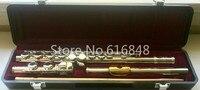 Юпитер Capital Edition модель CEF 510 16 отверстия закрытый концерт флейта качество Мельхиор Посеребренная C мелодия инструмент