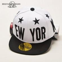 BINGYUANHAOXUAN Hot Sale Letter Embroidery Boys Girls Snapback Hat Pentagram Baseball Cap Gifts For Kids Fashion Hip-Hop Caps