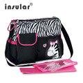 Bolsa de Pañales de La Momia del Pañal Del bebé Animal de la Cebra De Moda Multifuncional Bolsas de Maternidad Las Mujeres Hombro Bolsa de cochecito de Bebé A Prueba de agua