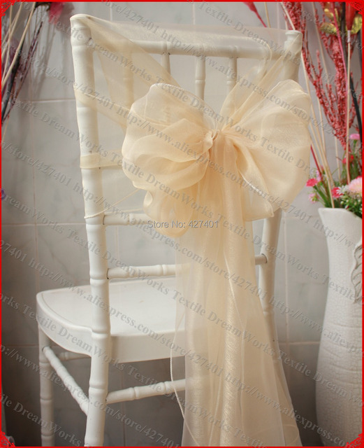 no 72 champagne color organza chair hoods chair caps chair cover