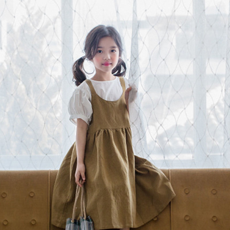 school big girls summer sleeveless dress cotton sundress toddler children casual long dresses girls clothes 2018 new new summer style girls dresses fashion knee length beach dresses for girls sleeveless bohemian children sundress girls yellow 3t