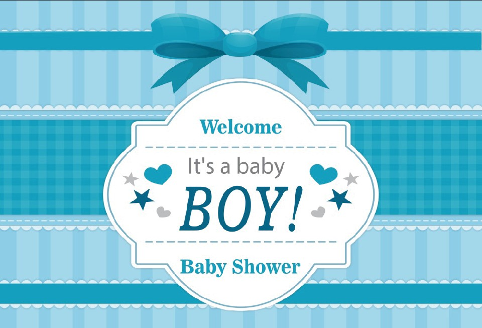 Laeacco Cartoon Bow Stripe Scene <font><b>Boy</b></font> <font><b>Baby</b></font> <font><b>Shower</b></font> Seamless Portrait Photography Background Photographic <font><b>Backdrop</b></font> For Photo Studio image
