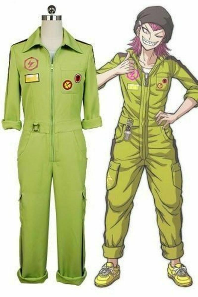 Super DanganRonpa Kazuichi Souda Jumpsuit Sst Full Suit Cos Anime Cosplay Costume Size Large