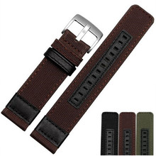 22mm 24mm Canvas Watch Band Strap Nylon Mesh Watchbands Women Men Sport Watches Belt Accessories + Tool все цены