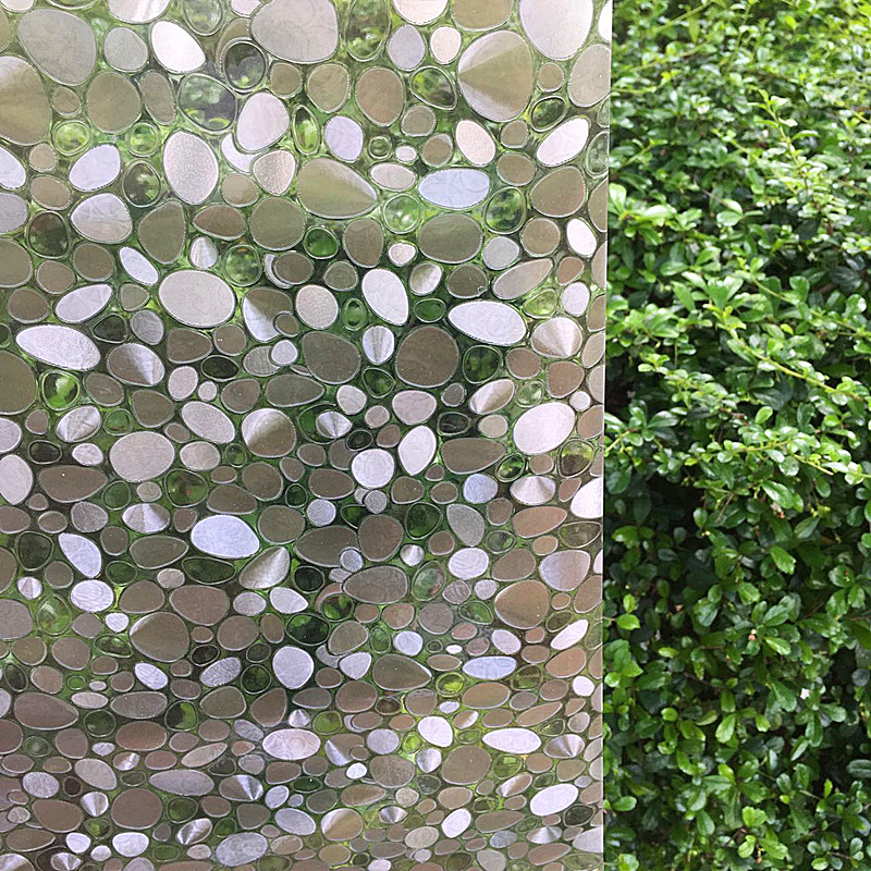 Pebble static glass film without glue window film Art 3D self adhesive window stickers for sliding glass door window 60*200cm