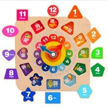 929a77cd80 Baby Spielzeug cartoon charakter form uhr holz Lernen Bildung uhr perlen  seil Digitale Geometrische Baustein Spielzeug Geschenk